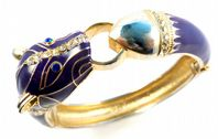 Purple Panther Magnetic Clamper Bangle